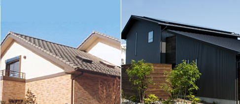 屋根(三州・陶器瓦 または ガルバリウム鋼板)